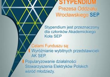 Stypendium Prezesa Oddziału Wrocławskiego SEP
